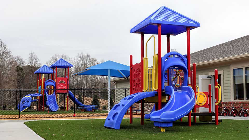 Kaplan Playground equipment, artificial grass, daycare design, day care center design, childcare design, child care design, child care centre design, child care interior design, child care architect