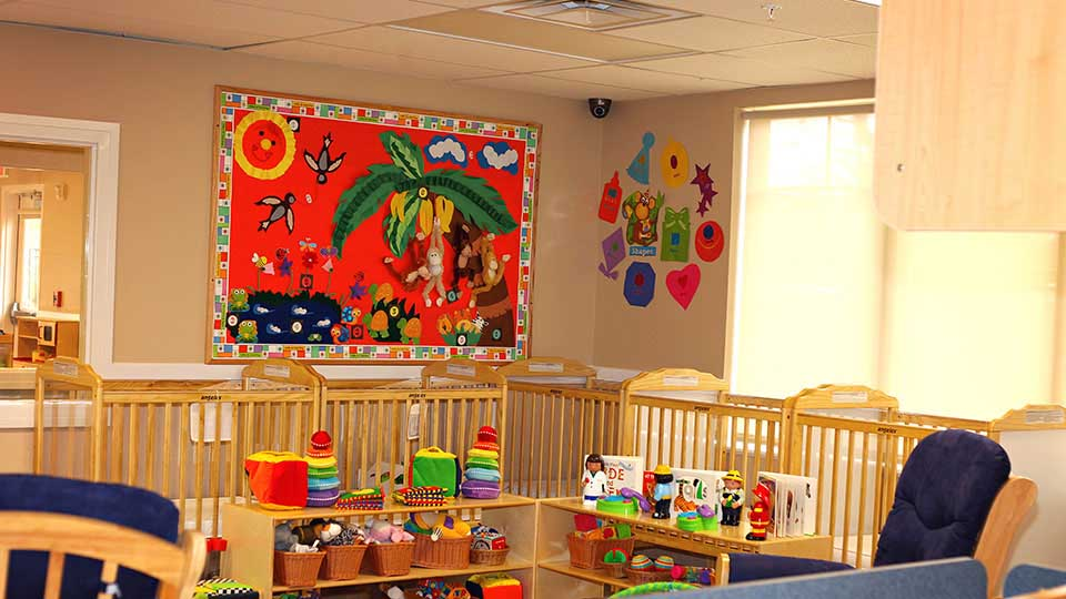 Infant Room, daycare design, day care center design, childcare design, child care design, child care centre design, child care interior design, child care architect