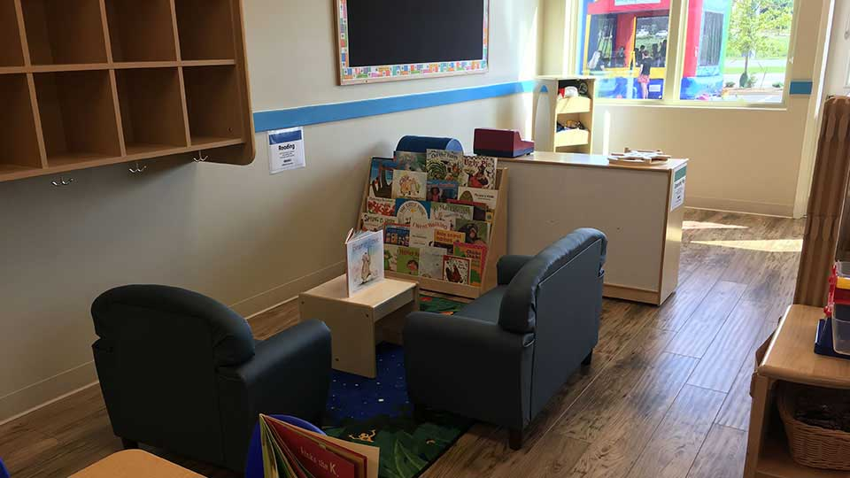 Bruce flooring, reading nook, daycare design, day care center design, childcare design, child care design, child care centre design, child care interior design, child care architect