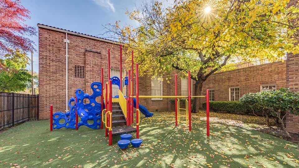 Courtyard playground, playground equipment, school design, school building design, design of school building