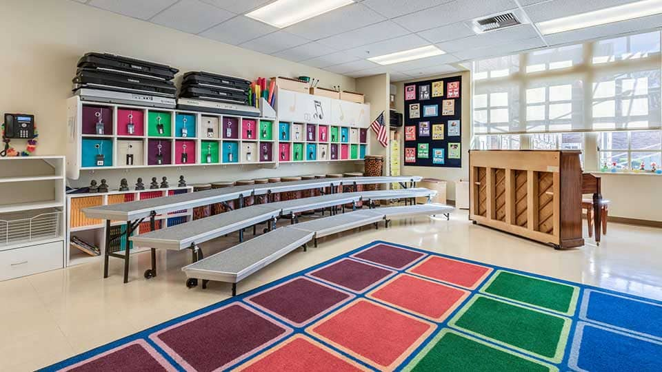 School music room, school design, school building design, design of school building