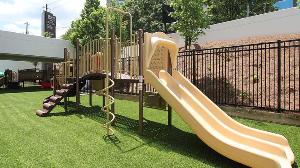 Ameristar fence, decorative fence, artificial grass, little tikes playground, childcare design, child care design, child care centre design, child care interior design, child care architect daycare design, day care center design
