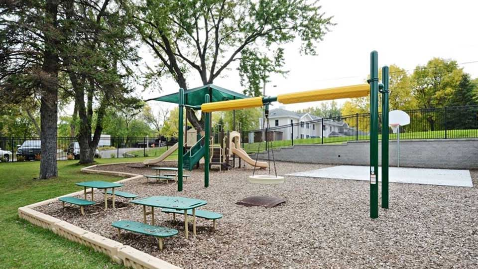Little tikes tire swing, playground basketball court, playground mulch, little tikes picnic table, playground borders, daycare design, day care center design, childcare design, child care design, child care centre design, child care interior design, child care architect