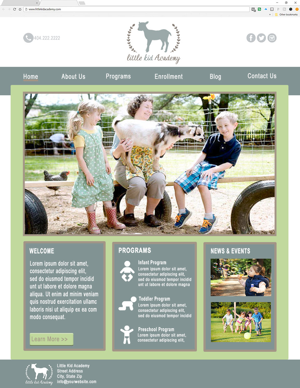 farmhouse child care website