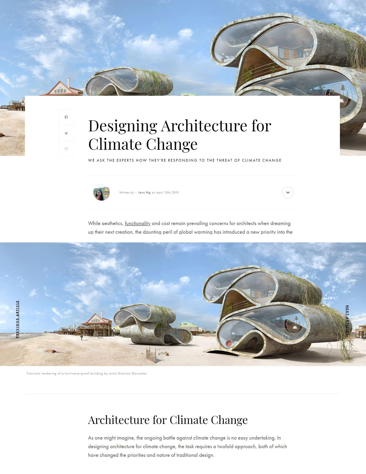 architecture for climate change; environmentally friendly building design