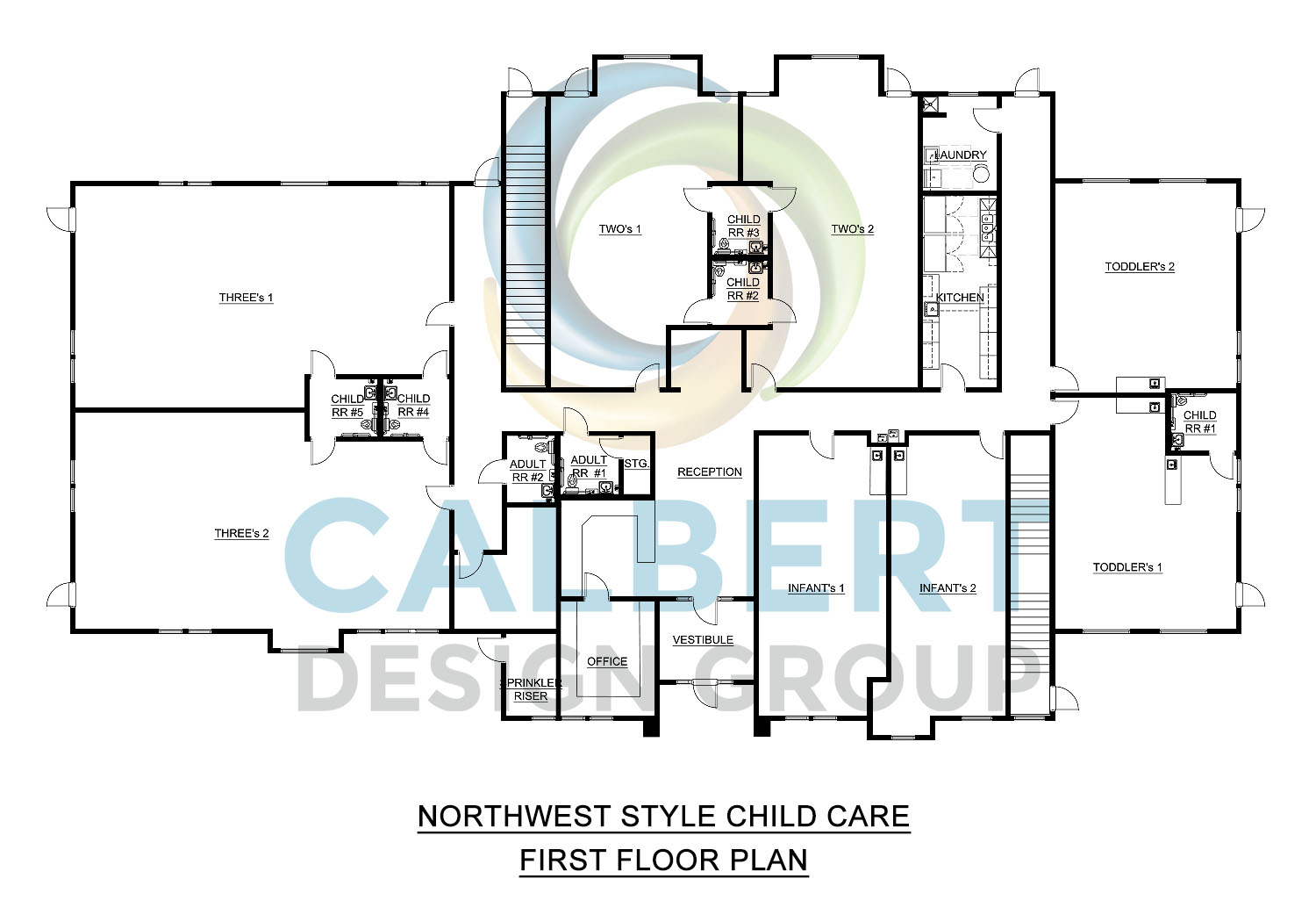 Northwest 2-Story Child Care plans for sale
