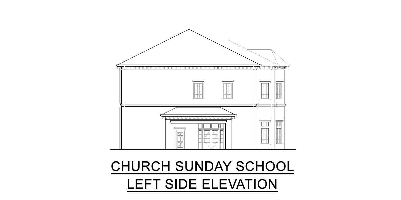 church Sunday school building elevation