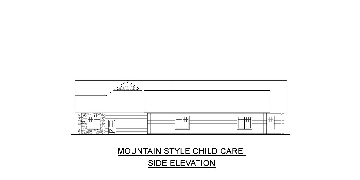 rustic style childcare floor plans for sale