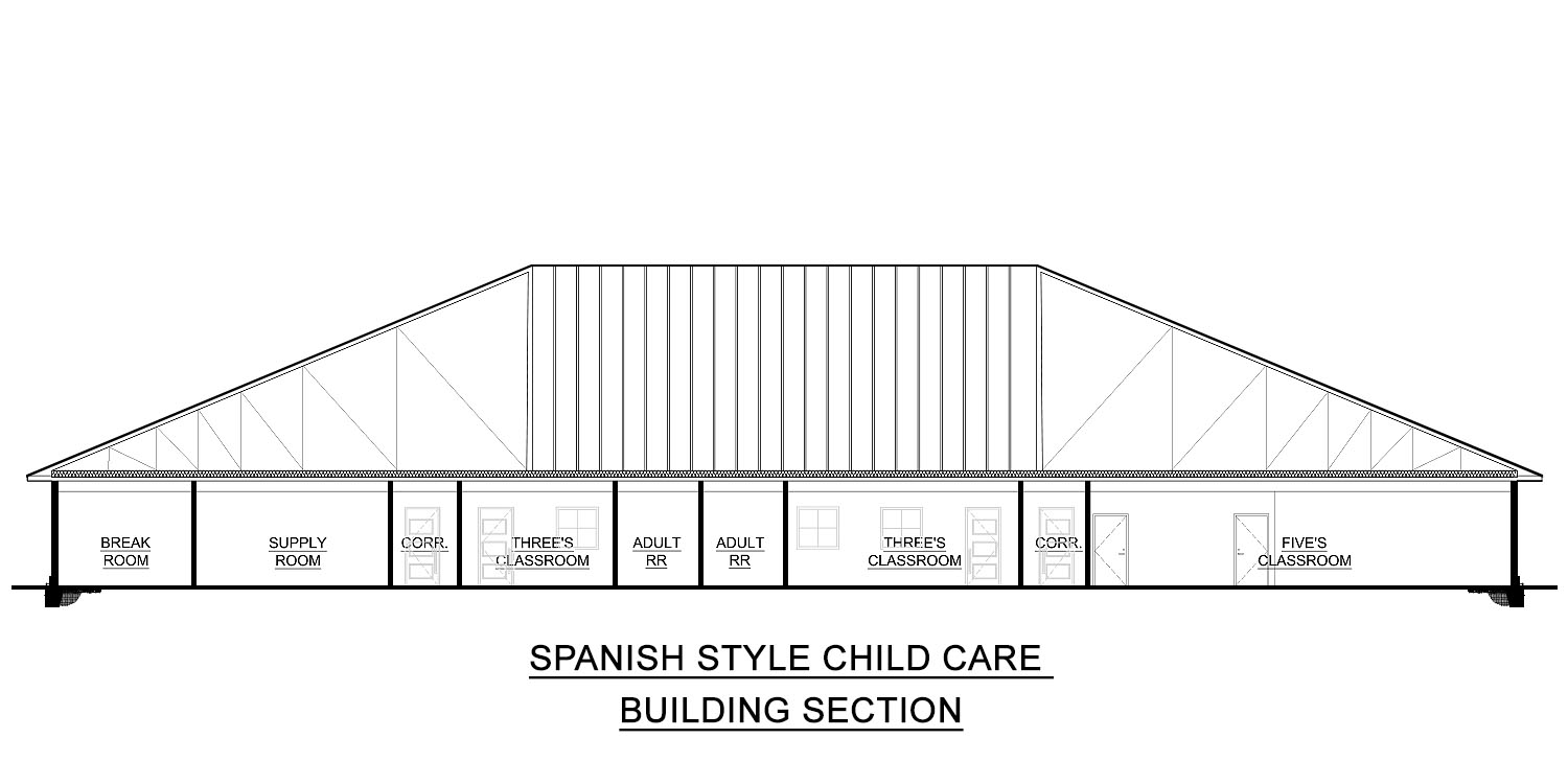 spanish style childcare floor plans for sale