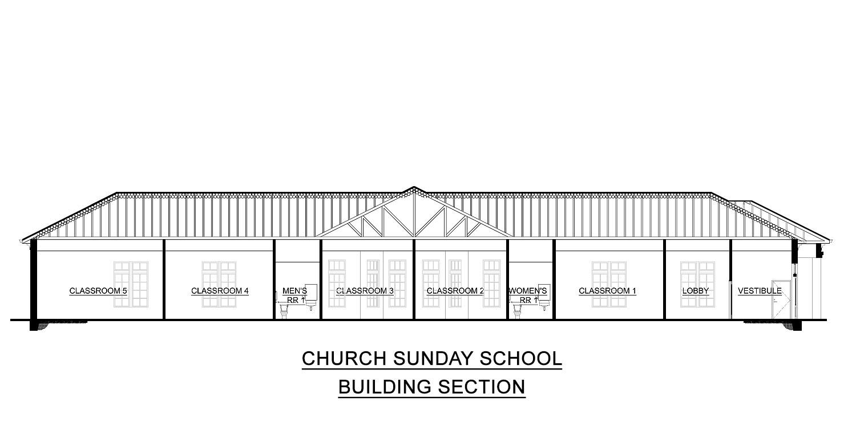Church Sunday School plans for sale
